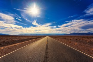 Open Road Sun Shining